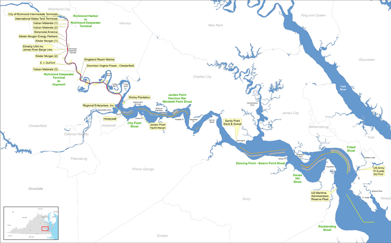 Map Of The Lower James River