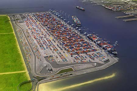 Artist rendition of the new port complex when once the Craney Island Eastward Expansion project is complete.
